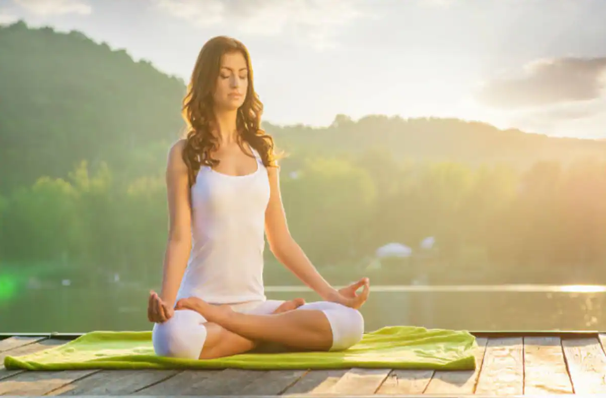 Yoga is all about connecting with nature says woman made of 50% plastic